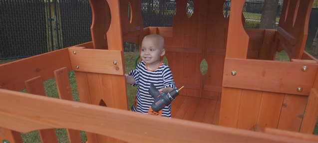 2-year-old back home with family in Randleman after weeks of treatment for brain tumor