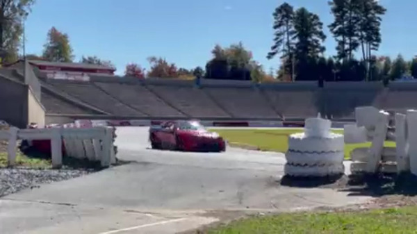 NASCAR tests nextgen car at Bowman Gray Stadium with several well-known drivers behind wheel