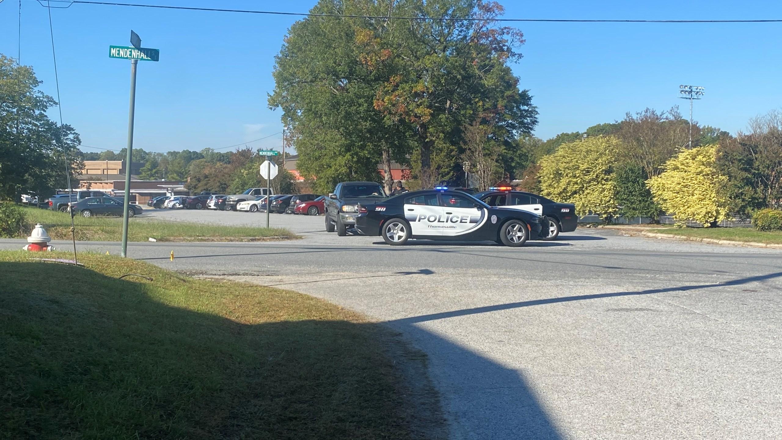 Thomasville High School on lockdown (Daniel Pierce/WGHP)