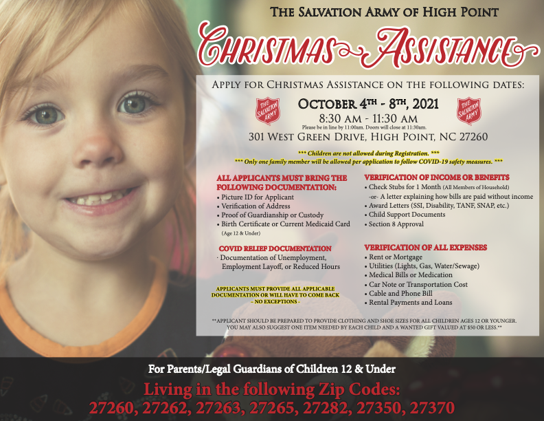 High Point Salvation Army's Angel Tree program for Christmas help accepting applications starting Monday
